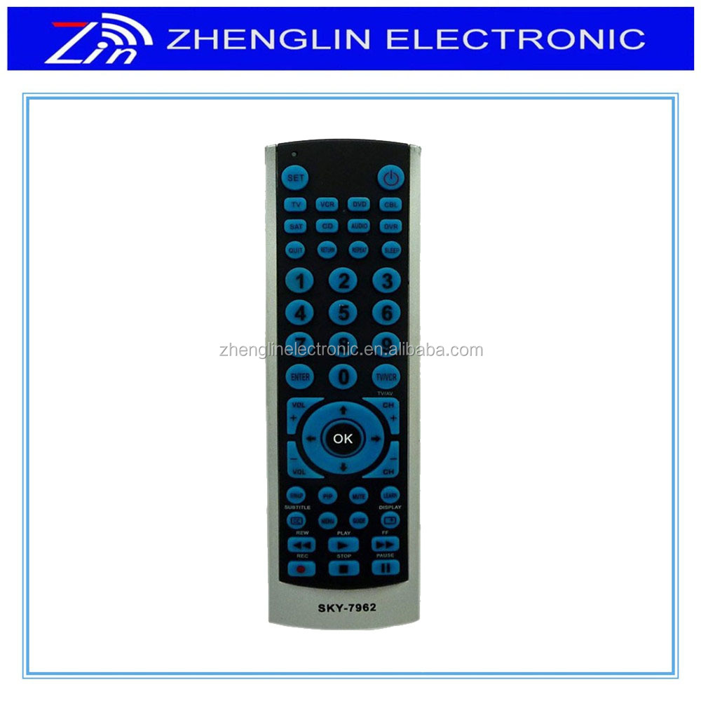 5 IN 1 sat universal remote control/tv/dvd player/vcd player remote control for SKY