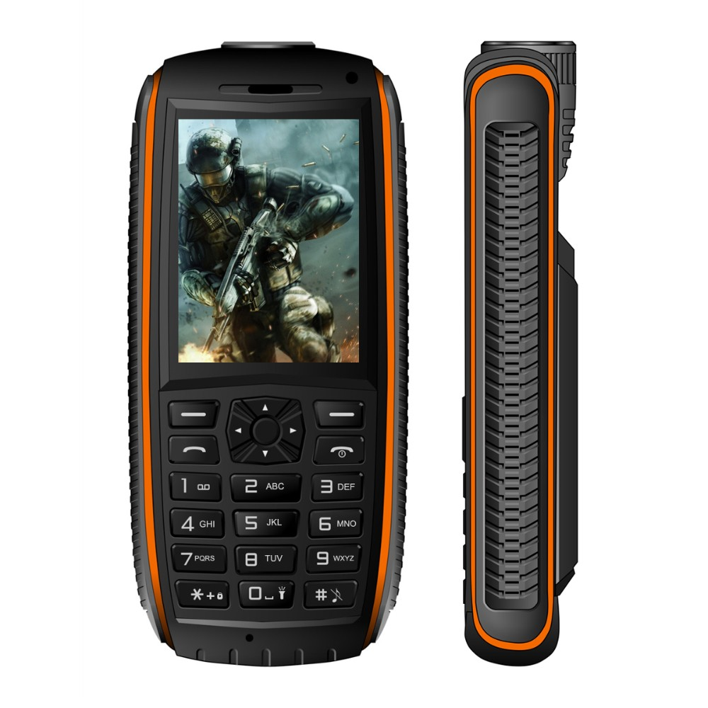 VKWORLD Stone V3 Max Waterproof IP68 Rugged Mobile Phone for Elder Man 5200mAh Power Bank Dual SIM Card English/Russian Keyboard