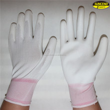 Free Sample Electric Industry Half Coated White PU Work Gloves