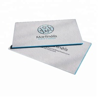 High quality custom print 800gsm cotton fancy paper raised embossed gold foil color edge business card