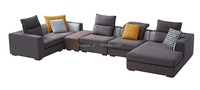fatory wholesale price wooden furniture sectional sofa leather modern