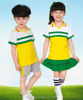 unique short sleeve school uniforms design
