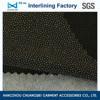 favorable fusing double dot polyester compression garment nonwoven interlining fabric(8530)