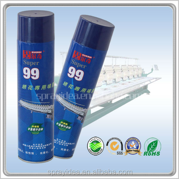 GUERQI super 99 embroidery spray glue with good initial adhesive