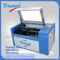 Triumph 50w 60w 500x300 mini cnc small co2 laser cutting machine
