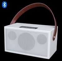 Top new Professional portable rechargeable wireless bluetooth Audio Speaker Hi fi Stereo wooden speakers