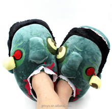 Funny plush slippers zombie slippers adult novelty slippers