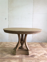Recycled oak wood furniture rustic round dining table designs