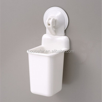 plastic suction cup toothbrush holder