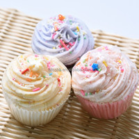 Wholesale Butter Bath Cup Cake with Aromatic and Canyd and Shea Butter and Cocoa Butter