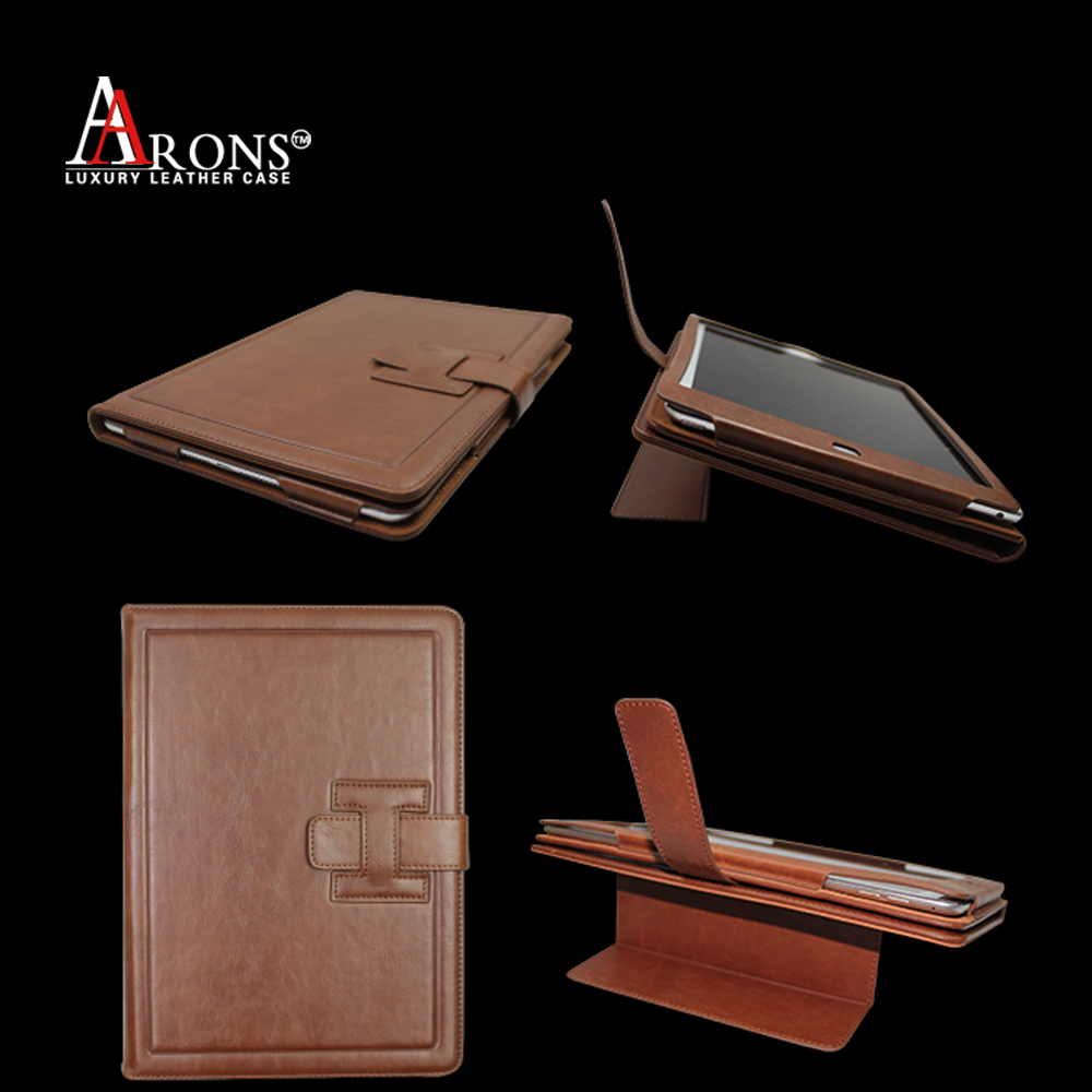 New design luxury leather flip tablet case for ipad