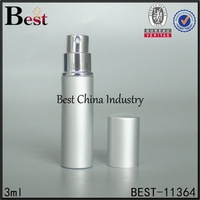 3ml 5ml 6ml 10ml silver cosmetic beauty spray pressure pump glass diffuser perfume bottle