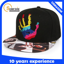 Sunny shine new style product high quality cheap Custom Flat Brim Your Own Snapback Caps OEM