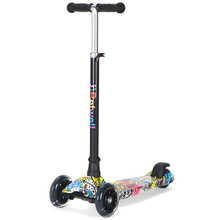 4 wheel maxi kick scooter with cool deck