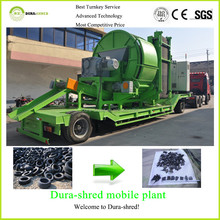 Dura-shred low cost used tire recycling oil machine price