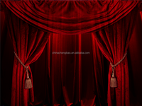China velvet portable stage curtains and backdrop