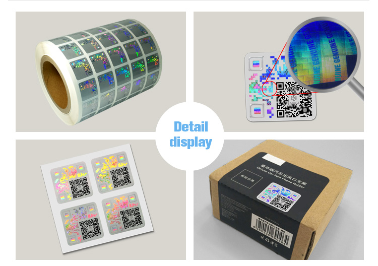 Custom Hologram QR Code Label for Security Authentication