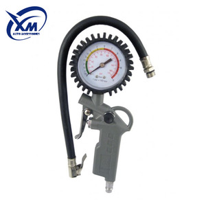 air pressure gauge tire inflator with gauge with chuck