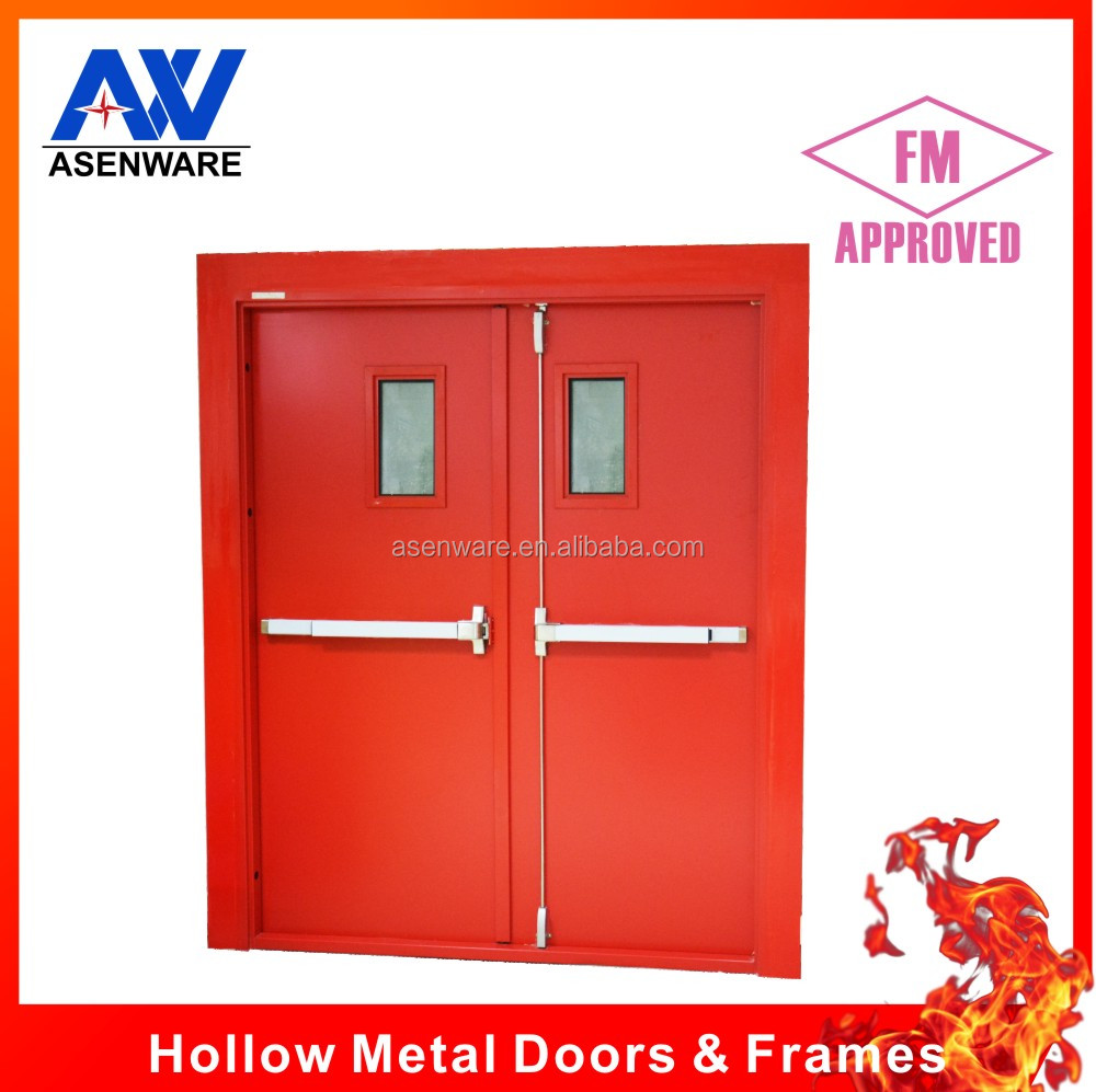 Stainless steel fire rated sliding doors