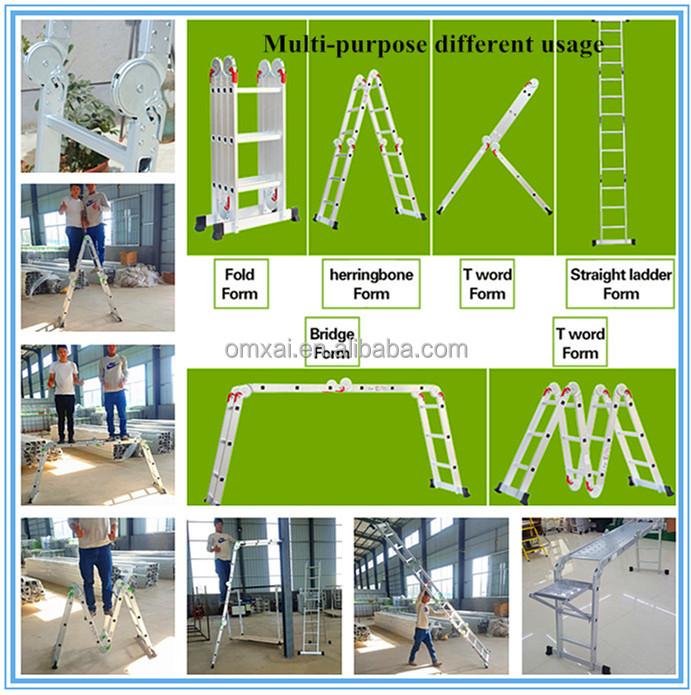 Linyi OMXAI EN131 wholesale aluminium folding ladder