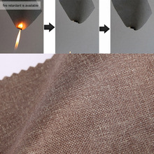 Fire retardant Germany B1 standard blackout polyseter linen curtain fabric