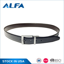 Alfa Hight Quality Products Wholesale Matte Black Mexican Pure Leather Men Belt