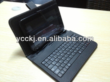 china supplier Universal Faux Leather Case Cover tablet pc case with keyboard and touchpad