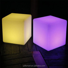 Hot Seller Good Design Waterproof Solar LED Cube Lights Cube Seat Cube Chair For Outdoor