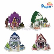 3d cardboard puzzle diy education toy doll houses for sale