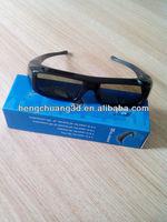 active shutter 3d glasses for DLP 3d projector/Panasonic