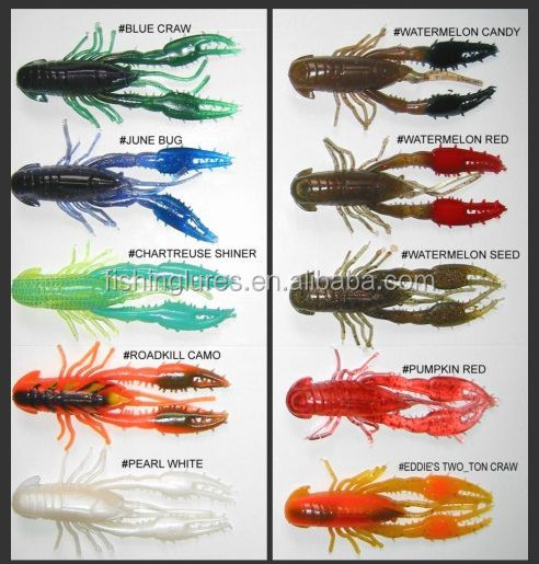 "CJ3.5""-XINHE Bass Fishing free sample speed shad soft bait, Shrimp fishing lure"