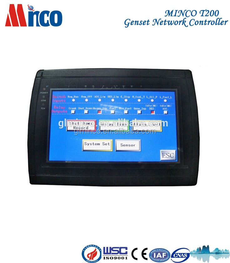 MINCO T200 cheap touch screen monitor for <strong>diesel</strong> generating set