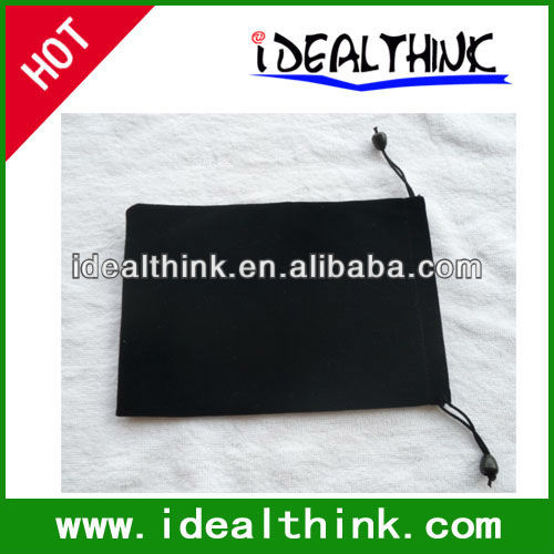 "Black Drawstring Velvet Sleeve Bag Case for 7"" Android Tablet PC MID Kindle Fire"