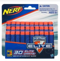 NERF N-STRIKE ELITE 30 Dart REFILL Genuine Sealed NERF Darts Ammo Bullets
