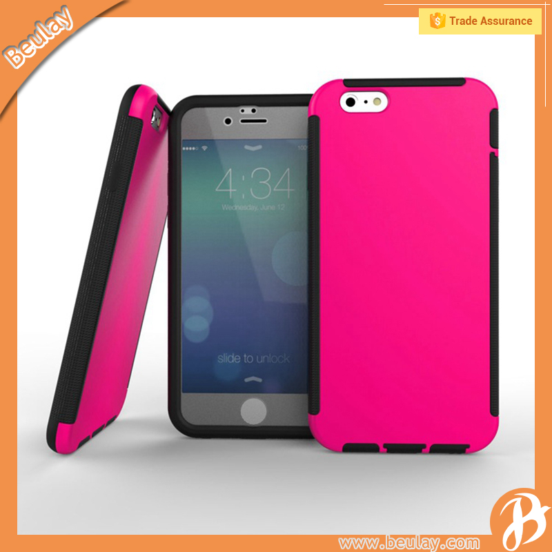 Rubber pc silicone soft skin cover case for iphone 4 5 5c 6 s plus for samsung