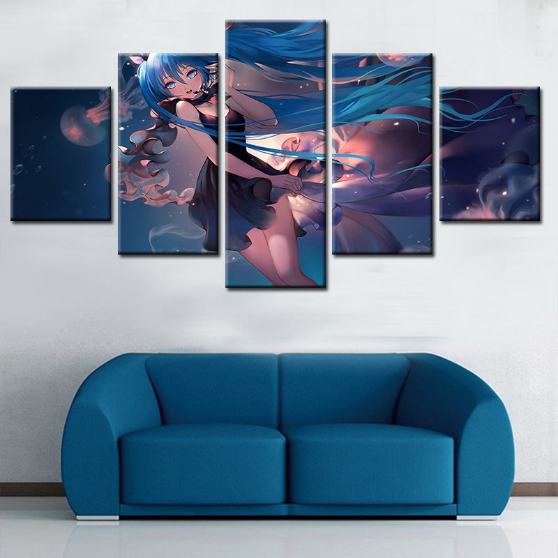 Wholesale modern Anime character decorative oil painting on canvas for wall decor