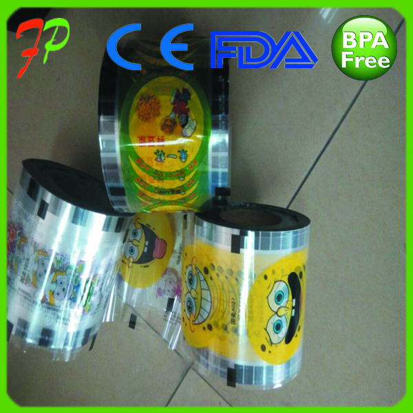 Custom Printing Plastic Cup Sealing Film on Roll