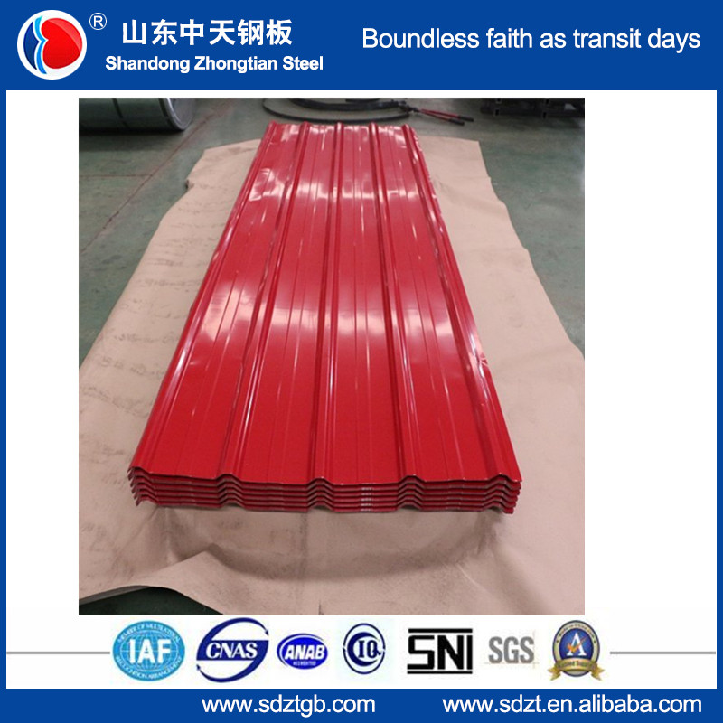 low price Corrugated roofing sheet/ Trapezoidal tile stock 0.14-0.6mm
