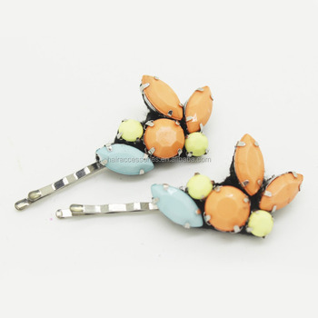New Style Fancy Stone Flower Hair Pin
