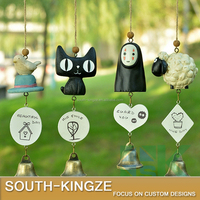 Sheep, Cat, Japanese Anime Character Resin Cute Cartoon Bell Wind Chime