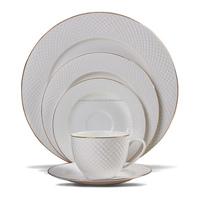 M07022 Luxury Fine Porcelain Royal Dinnerware,Porcelain / Ceramic Golden rim Dinner Set,Exquisite Tableware