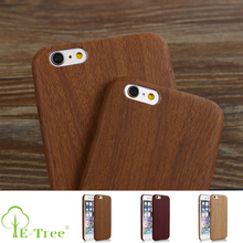 High Quality Wooden Pattern Shockproof PU Leather Wood Cell Phone Cover Case For iPhone 6S Plus