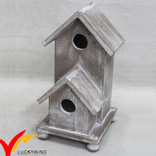 Christmas Miniature Vintage Small Wood Crafts Bird House