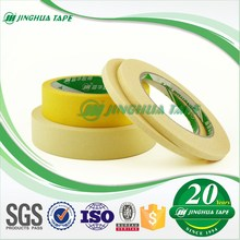 yellow Color Rubber/Solvent/Acrylic Crepe Paper Masking Tape