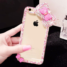 for iPhone 7 Plus Pink Case, Cute Rhinestone Bling Hybrid Diamond Cover Skin Phone Case For Apple iPhone 7 Plus