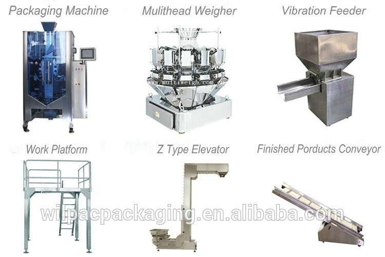Foshan high quality sea salt modular weighing machine for 4.5L 2 head linear weigher with CE certification and high accuracy