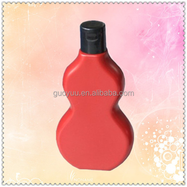 Plastic Bottle Cucurbit Shape 400ml Empty Screw Cap Cosmetic Jar