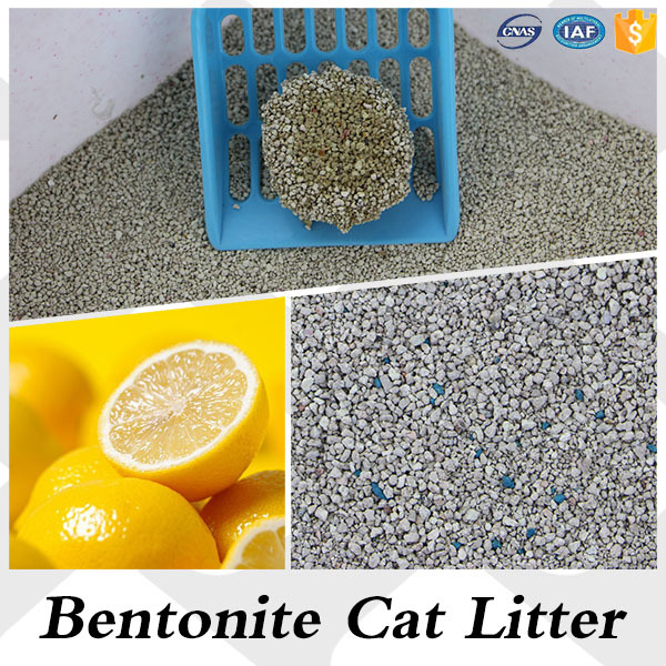 Low price bentonite cat litter odd shape