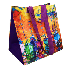 Recycle laminated pp non woven cloth bag/colorful cheap non-woven polypropylene fabric grocery carry bag