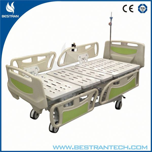 China BT-AE006 hospital 5 function linak electric patient bed, LINAK MOTOR ELECTRIC Bed with column structure